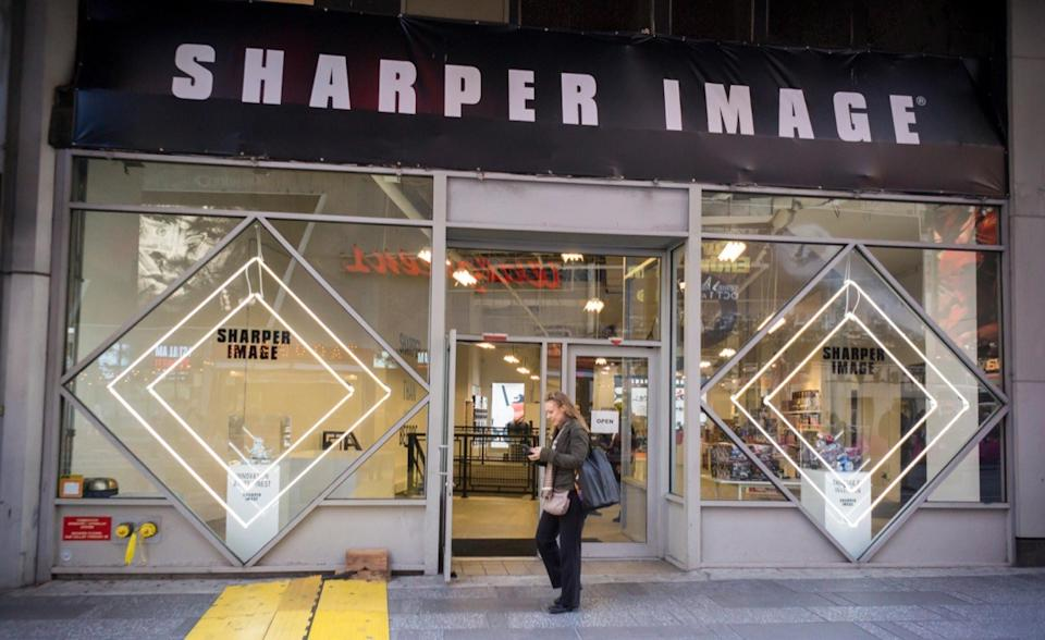 Exterior of a Sharper Image Storage Stores From Childhood