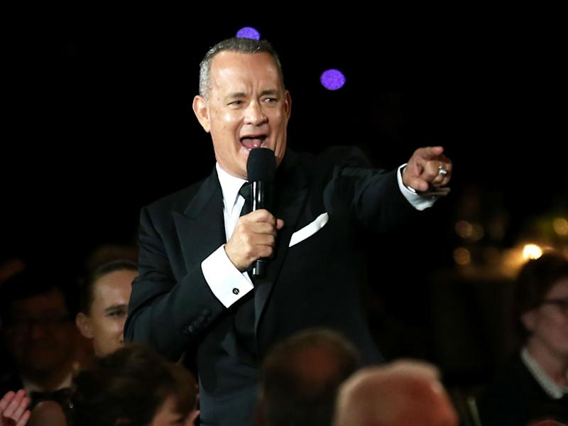 Tom Hanks has donated three coffee machines to the Presidential press pool since 2004: Getty
