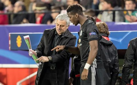 Jose Mourinho Paul Pogba - Credit: Getty Images