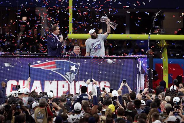 The New England Patriots won again. Joy. (Getty)