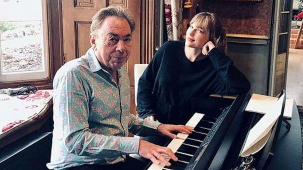 PHOTO: An undated photo posted to Taylor Swift's Instagram account show her posing with composer Andrew Lloyd Webber. (Taylor Swift/Instagram)