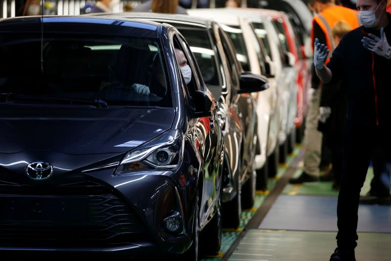 Toyota Motor Manufacturing France resumes operations after five week closure amid coronavirus disease (COVID-19) outbreak