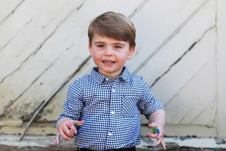<p>The pictures were taken by his mother, the Duchess of Cambridge in early April. </p>