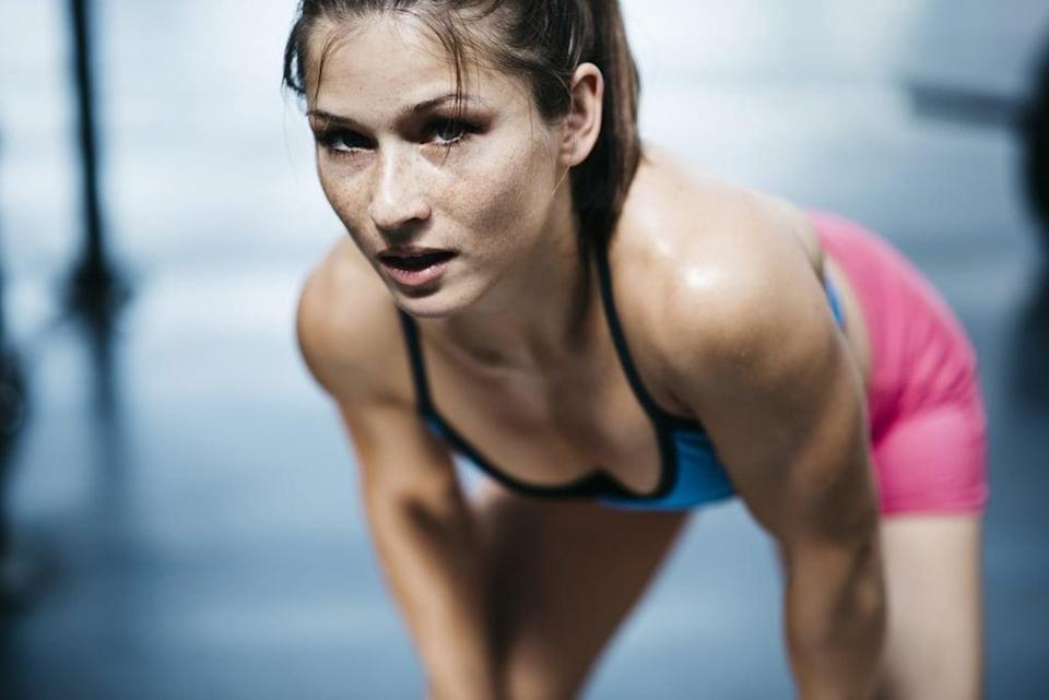 """<p><strong>Equipment needed:</strong> none</p> <p>This <a href=""""https://www.popsugar.com/fitness/Quick-HIIT-Workout-45624016"""" class=""""link rapid-noclick-resp"""" rel=""""nofollow noopener"""" target=""""_blank"""" data-ylk=""""slk:16-minute HIIT workout"""">16-minute HIIT workout</a> involves eight basic bodyweight moves, many of which are plyometric exercises, so it may be quick, but it's intense.</p>"""