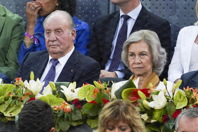 King of Spain Juan Carlos I, Queen of Spain Sofia during the Mutua Madrid Open 2019 (ATP Masters 1000 and WTA Premier) tenis tournament at Caja Magica in Madrid, Spain, on May 11, 2019. (Photo by Oscar Gonzalez/NurPhoto via Getty Images)