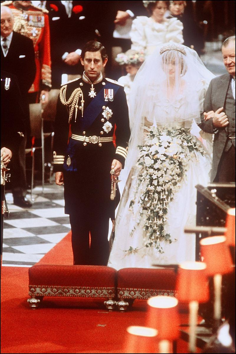 Prince Harry's parents, heir to the British throne Prince Charles and Lady Diana Spencer at their wedding in 1981. — Picture by AFP