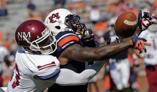 Auburn powers past New Mexico State 42-7