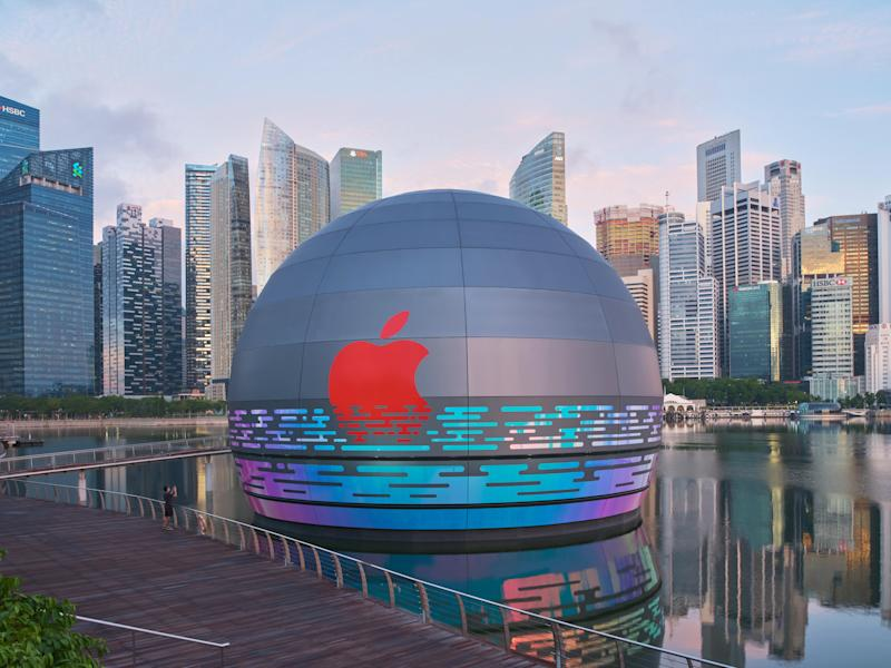 Apple's next store looks like a giant ball floating on water