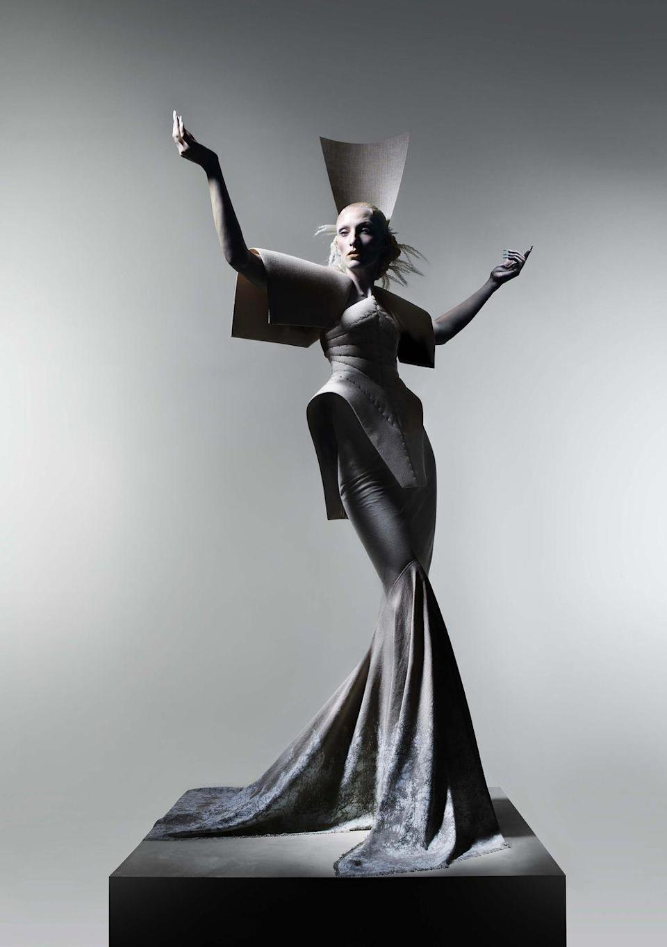 "<p>Beloved British designer <a href=""https://hitandrun.ltd/collections/gareth-pugh"" rel=""nofollow noopener"" target=""_blank"" data-ylk=""slk:Gareth Pugh"" class=""link rapid-noclick-resp"">Gareth Pugh</a> is back with a multi-disciplinary project photographed by Nick Knight.</p><p>Named 'The Reconstruction', the project is an impassioned response to the impact of the COVID-19 pandemic, and sees a host of incredible talent come together for a visual album and exhibition hosted in <a href=""https://www.christies.com/"" rel=""nofollow noopener"" target=""_blank"" data-ylk=""slk:Christie's"" class=""link rapid-noclick-resp"">Christie's</a> London.</p><p>None of the 13 looks created for the project will be for sale, however Pugh has also produced a capsule collection in collaboration with designer Melissa Mehrtens, which will launch alongside the visual album, featuring the likes of Rina Sawayama and IAMDDB. </p><p>They can be purchased online via <a href=""https://hitandrun.ltd/collections/gareth-pugh"" rel=""nofollow noopener"" target=""_blank"" data-ylk=""slk:HIT + RUN"" class=""link rapid-noclick-resp"">HIT + RUN</a>, a new online retail platform promoting zero-waste. </p><p>All profits will go to Refuge, a charity providing specialist support for women and children experiencing domestic violence.</p><p><a class=""link rapid-noclick-resp"" href=""https://hitandrun.ltd/collections/gareth-pugh"" rel=""nofollow noopener"" target=""_blank"" data-ylk=""slk:SUPPORT NOW"">SUPPORT NOW</a></p>"