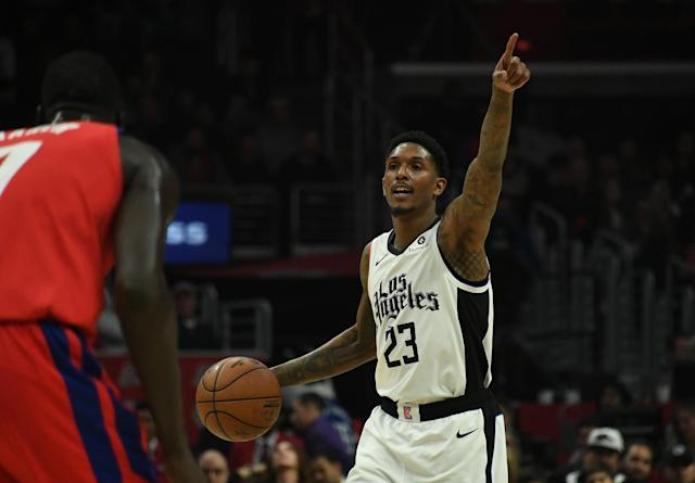 "<a class=""link rapid-noclick-resp"" href=""/nba/players/3971/"" data-ylk=""slk:Lou Williams"">Lou Williams</a>' son is now his namesake ⁠— in a different kind of way. (Richard Mackson-USA TODAY Sports)"
