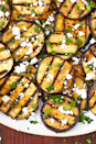 """<p>Aubergine is infinitely better grilled, and this one comes with a simple but addicting tahini dressing.</p><p>Get the <a href=""""https://www.delish.com/uk/cooking/recipes/a28960443/grilled-aubergine-recipe/"""" rel=""""nofollow noopener"""" target=""""_blank"""" data-ylk=""""slk:Grilled Aubergine"""" class=""""link rapid-noclick-resp"""">Grilled Aubergine</a> recipe. </p>"""