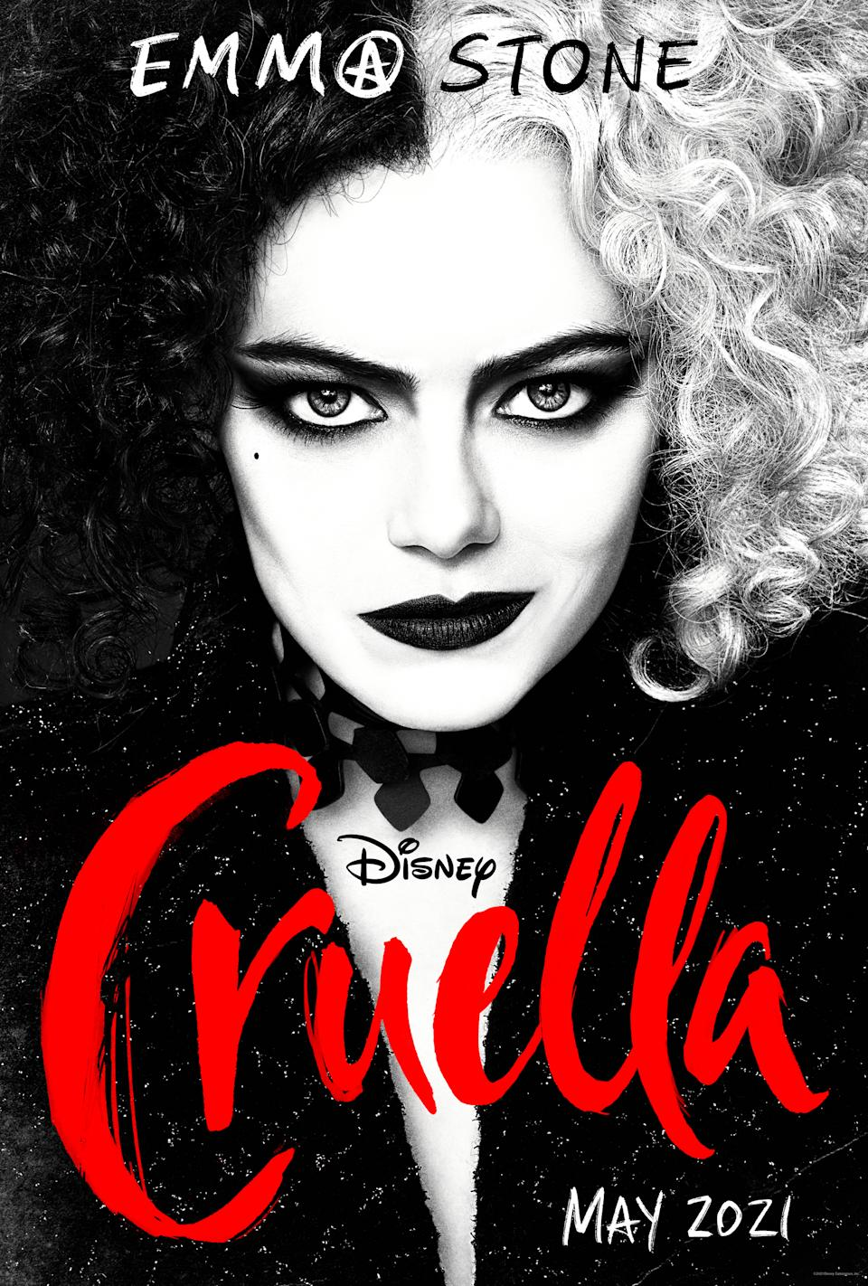 Poster art for Cruella (Disney)