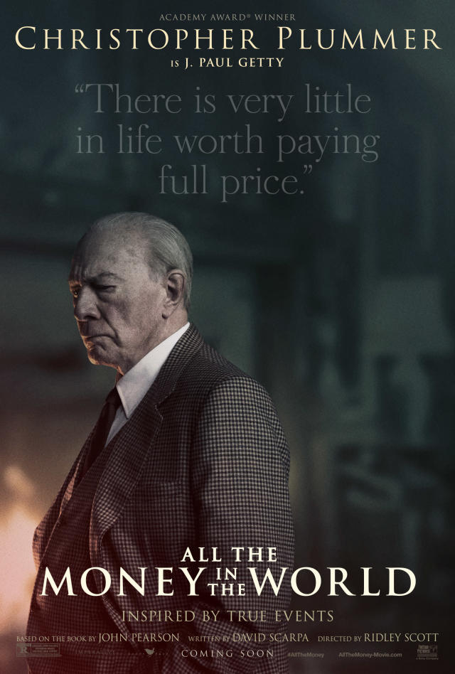 Christopher Plummer as J. Paul Getty in a new character poster for <em>All the Money in the World</em> (Image: Sony Pictures Entertainment)