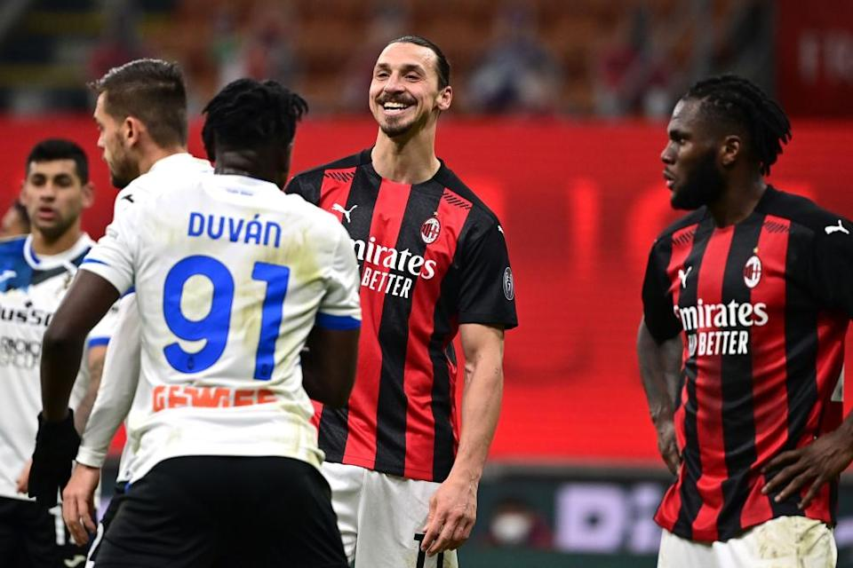 Milan's talisman Zlatan Ibrahimovic said he felt isolated against Atalanta.