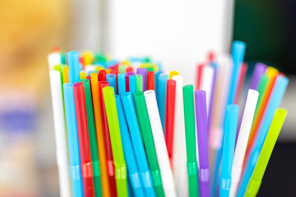 Plastic straws will no longer be available in eateries in England. Credit: Getty.