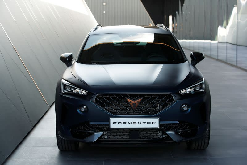 Photocall with the new Formentor car by SEAT Cupra, in Martorell