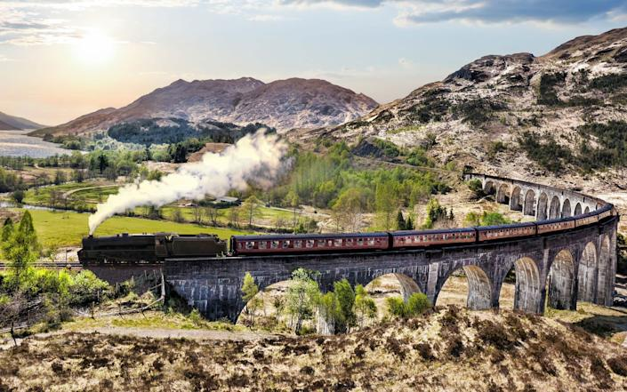 Better known as the 'Harry Potter train', The Jacobite linking Fort William and Mallaig runs along the stunning West Highland Line - ISTOCK