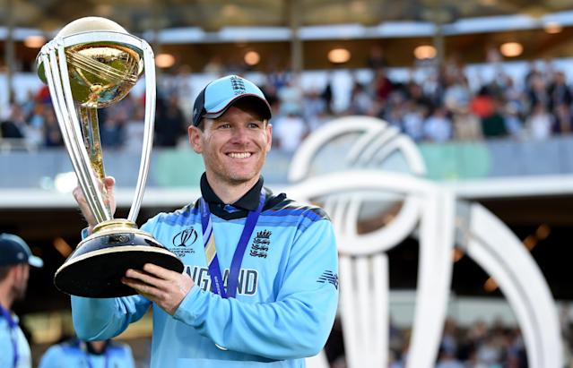 Eoin Morgan becomes a CBE after leading England to World Cup glory (Photo by Gareth Copley-ICC/ICC via Getty Images)