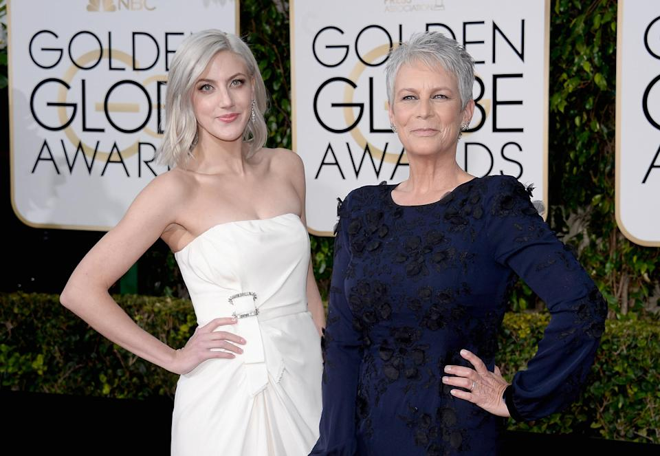 Jamie is joined by her daughter Annie on a red carpet