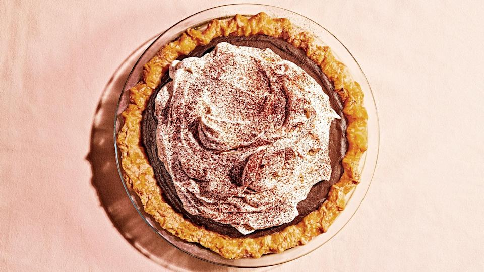 """<a href=""""https://www.bonappetit.com/recipe/chocolate-pudding-pie?mbid=synd_yahoo_rss"""" rel=""""nofollow noopener"""" target=""""_blank"""" data-ylk=""""slk:See recipe."""" class=""""link rapid-noclick-resp"""">See recipe.</a>"""