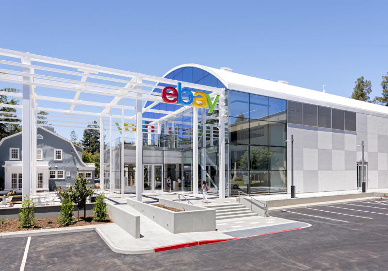 The entrance to eBay's San Jose campus.