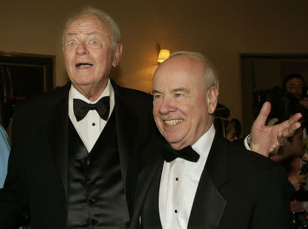 ACTORS HARVEY KORMAN AND TIM CONWAY AT TV HALL OF FAME CEREMONY.