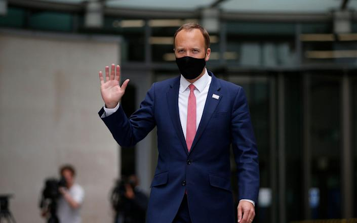 Matt Hancock gestures before appearing on The Andrew Marr show on the BBC on June 6 - Hollie Adams/Getty Images
