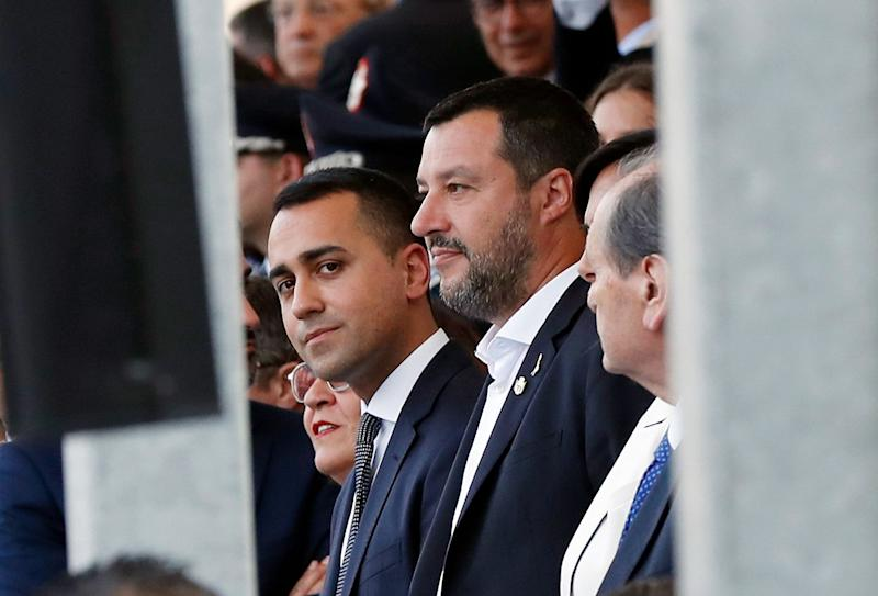 """(Bloomberg) -- Italy's fractious populist coalition lurches into a make-or-break week as Matteo Salvini decides whether to try to force snap elections while Prime Minister Giuseppe Conte struggles to salvage the government.The fate of the coalition hangs on a possible meeting between Deputy Premier Salvini and his ally-cum-rival Luigi Di Maio of the Five Star Movement, and government talks on granting more powers to northern regions -- a landmark issue for Salvini's rightist League. Conte is also due to address parliament on the """"Russiagate"""" scandal Wednesday.""""The future is in the hands of the good Lord,"""" Salvini told reporters on a visit to Florence, when asked whether the government would last. Salvini said he had no meeting planned with Di Maio, newswire Ansa reported.Salvini, the dominant force in the administration, has repeatedly threatened to scupper the ruling coalition. Tensions with the anti-establishment Five Star have escalated since the League became Italy's biggest party in May's European parliamentary elections.Supporting the move are soaring poll numbers that see the League within shooting distance of the 40% needed for a majority in Parliament. Yet, while ditching Five Star could trigger a snap vote as early as September, the decision is ultimately up to President Sergio Mattarella.As he mulls over a death-blow to the coalition, Salvini is pressing for commitments from Five Star to his priority reforms. Salvini also wants a cabinet reshuffle to replace Five Star ministers including Transportation Minister Danilo Toninelli and Defense Minister Elisabetta Trenta, according to two senior League lawmakers who declined to be named on a confidential issue.If the government is to survive, Salvini would need to hold a meeting not just with Di Maio but also with Conte, the League lawmakers said. After triggering alarm bells over the coalition's future last week, Salvini has still not decided whether to keep it going or not, the lawmakers added.After months o"""