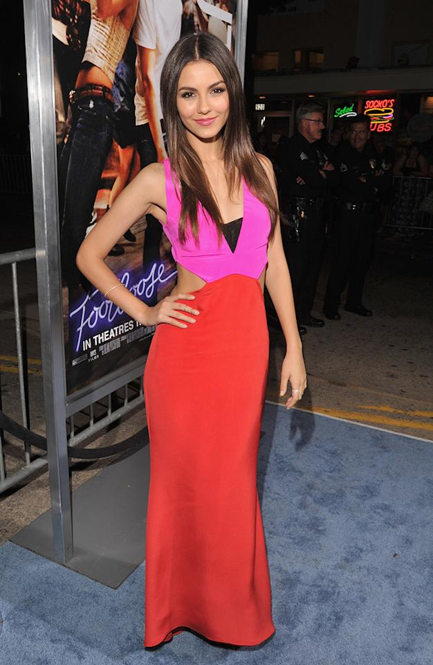 """<a href=""""http://movies.yahoo.com/movie/contributor/1809106294"""">Victoria Justice</a> at the Los Angeles premiere of <a href=""""http://movies.yahoo.com/movie/1810164562/info"""">Footloose</a> on October 3, 2011."""