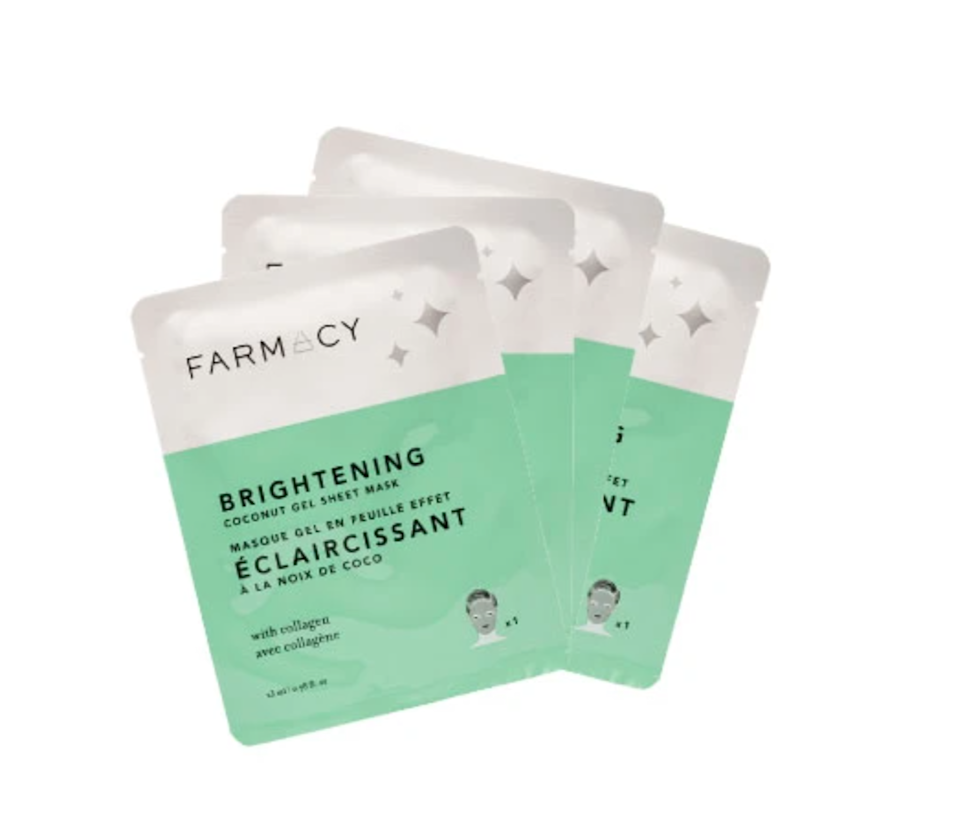 """<h2>Farmacy Coconut Gel Mask</h2><br><strong>Best For: Mom<br>Budget: $16</strong><br>These supercharged face masks work like magic for dry, dull skin. Encourage even the busiest of moms to carve out some time (all she needs is 15 mins!) for self-care with these coconut water-infused sheet masks that'll refresh and hydrate skin for a healthy-looking glow. <br><br><em>Shop <a href=""""https://www.farmacybeauty.com/"""" rel=""""nofollow noopener"""" target=""""_blank"""" data-ylk=""""slk:Farmacy"""" class=""""link rapid-noclick-resp""""><strong>Farmacy</strong></a></em><br><br><strong>Farmacy</strong> Coconut Gel Mask - 4-pack, $, available at <a href=""""https://go.skimresources.com/?id=30283X879131&url=https%3A%2F%2Fwww.farmacybeauty.com%2Fproducts%2Fcoconut-gel-mask-hydrating-4-pack"""" rel=""""nofollow noopener"""" target=""""_blank"""" data-ylk=""""slk:Farmacy"""" class=""""link rapid-noclick-resp"""">Farmacy</a>"""