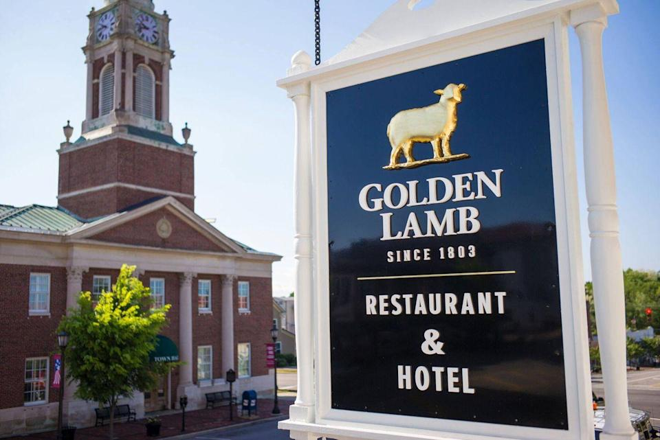 """<p>Dating back to 1803, <a href=""""https://www.tripadvisor.com/Restaurant_Review-g50541-d394879-Reviews-The_Golden_Lamb_Restaurant-Lebanon_Ohio.html"""" rel=""""nofollow noopener"""" target=""""_blank"""" data-ylk=""""slk:The Golden Lamb"""" class=""""link rapid-noclick-resp"""">The Golden Lamb</a> is the oldest continuously operated hotel and restaurant in the state. Distinguished guests included 12 different U.S. presidents, Harriet Beecher Stower, and more. Antique furniture decorates the themed dining rooms, where visitors dig into fried-chicken dinners and the famous sauerkraut balls. Don't knock em 'til you try em!</p>"""