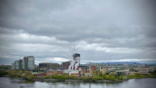 A view of Gatineau, Que., from across the Ottawa River on May 5, 2021.