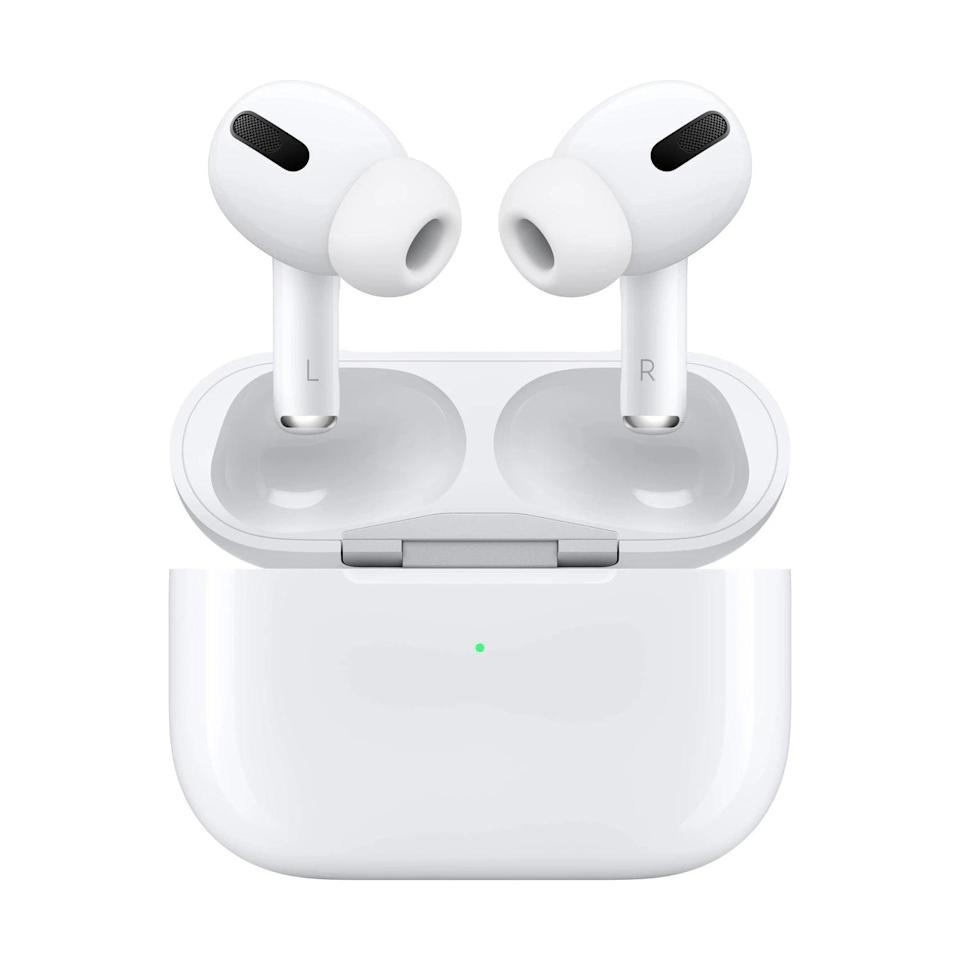 <p>Perfect for an on-the-go lifestyle, the <span>Apple AirPods Pro</span> ($200, originally $250) let's them block out the noise for immersive sound or switch to transparency mode to hear what's happening around you. They're also sweat and water resistant, so they can work out with them.</p>