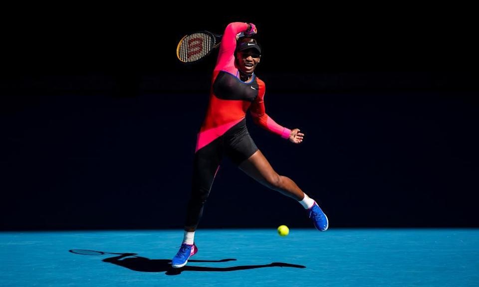 Serena Williams showed signs in her match against Naomi Osaka that she is moving much better than she has done for some while. But she still felt the frustration of a late-stage exit.