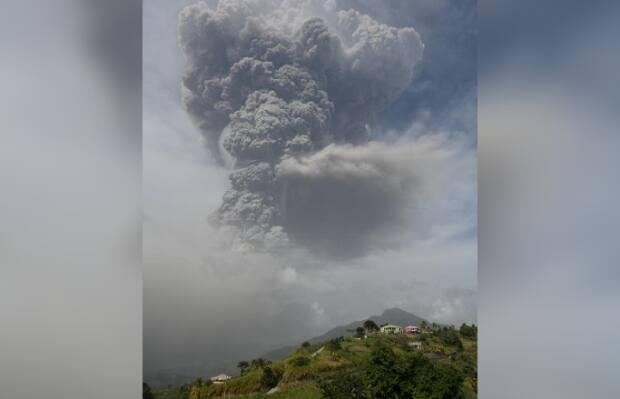 The eruption of St. Vincent's La Soufrière has Murray Hillocks worried for friends and family of his living on the island. He's originally from the Caribbean island and moved to New Brunswick in 2008. (The University of the West Indies Seismic Research Centre - image credit)