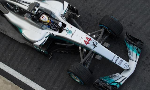 """<span class=""""element-image__caption"""">Lewis Hamilton said during the winter shakedown that he and Mercedes were working 'better than ever together'.</span> <span class=""""element-image__credit"""">Photograph: Oli Scarff/AFP/Getty Images</span>"""