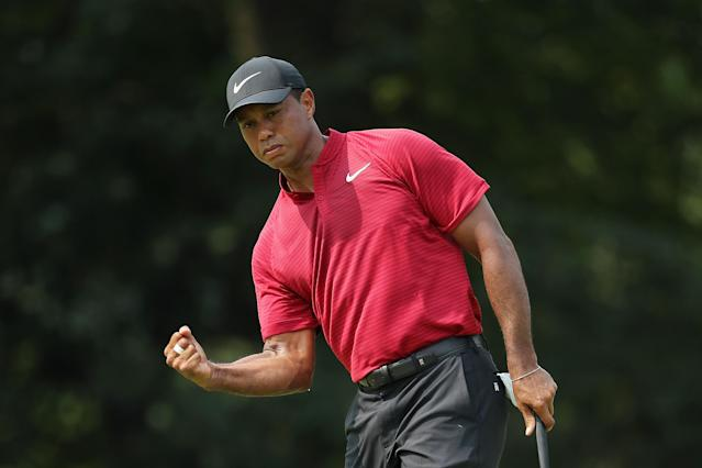 <p>Tiger returned to being a threat on the final day of majors, finishing second at the PGA championship and sixth at the British Open in 2018. </p>