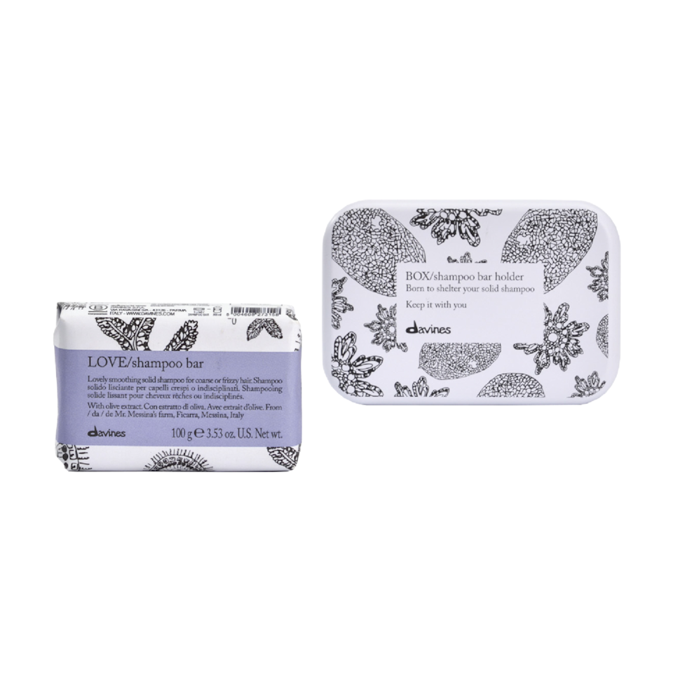 Davines just introduced four Solid Shampoo Bars to its roster, including this variant, Love, which is made to bring out the best in coarse and frizzy hair. Olive extract, sunflower seed oil, and glycerin help restore shine and moisture to thicker hair — and like a traditional shampoo, this formula bubbles up into a rich lather.