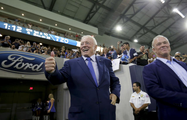 "Cowboys owner Jerry Jones on NFL's plans to break into the Chinese market: ""This isn't like saying, 'Let's go mine gold in the Himalayas.' It's not that at all. It is real. But it is a daunting task to start and create."" (AP)"