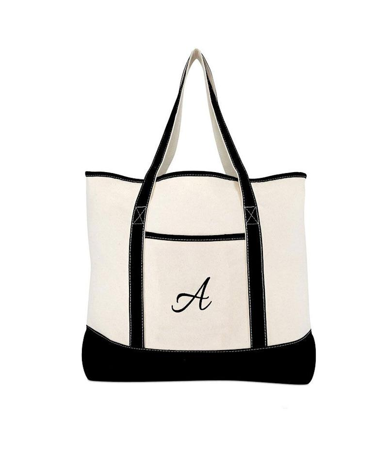 Dalix Monogram Tote Bag (Photo: Amazon)