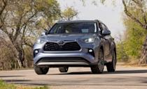 """<p>The <a href=""""https://www.caranddriver.com/toyota/highlander"""" rel=""""nofollow noopener"""" target=""""_blank"""" data-ylk=""""slk:Toyota Highlander"""" class=""""link rapid-noclick-resp"""">Toyota Highlander</a> seats up to eight passengers (seven on higher trims with second-row captain's chairs), and is available with a 295-hp V-6 or a hybrid powertrain that gets an EPA-estimated 36 mpg combined. The Highlander received a five-star rating from NHTSA, and a Top Safety Pick+ award from the IIHS. During vehicle-to-vehicle crash prevention tests, the Toyota Safety Sense detection system prevented collision for 12 mph and 25 mph tests. The Highlander earned a Superior rating for front crash prevention, and Good ratings across all six crash tests. Every Highlander comes with adaptive cruise control, lane-keeping assist, automated emergency braking with pedestrian detection, and automatic high-beam assist. </p><p><a class=""""link rapid-noclick-resp"""" href=""""https://www.caranddriver.com/toyota/highlander"""" rel=""""nofollow noopener"""" target=""""_blank"""" data-ylk=""""slk:MORE HIGHLANDER INFO"""">MORE HIGHLANDER INFO</a></p>"""