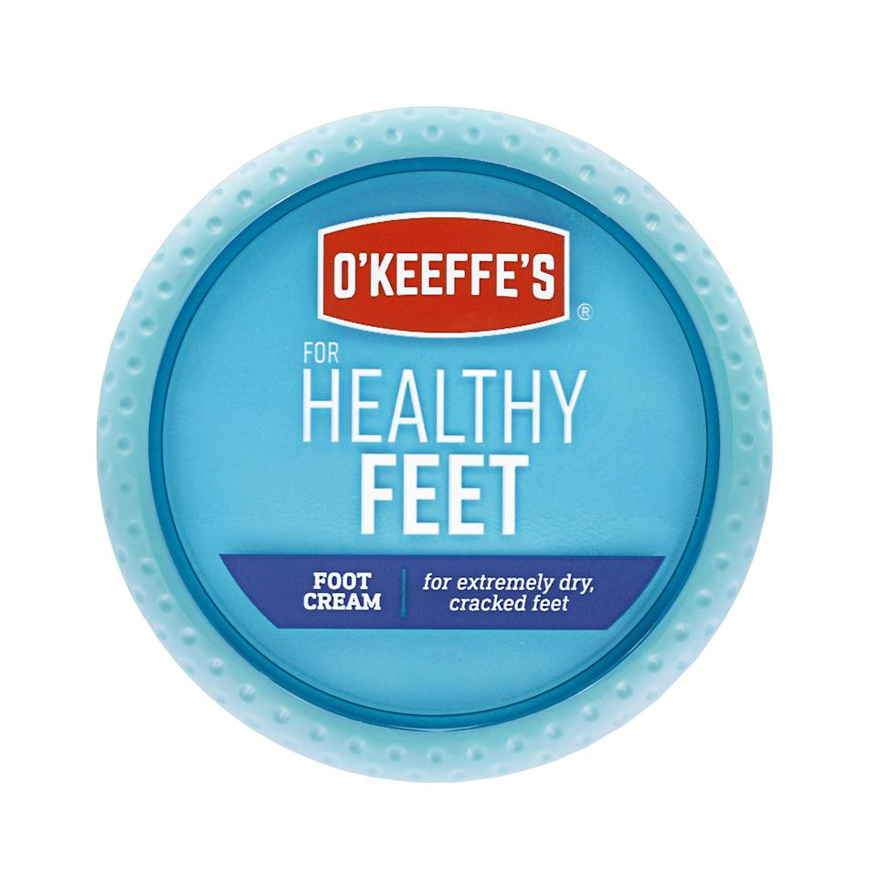 """<h3>O'Keeffe's Foot Cream</h3><br><strong>Jacqui</strong><br><br>""""I have been using this foot cream for years. Cracked, dry feet are the worst, but this product WORKS. That's my short review but there are <a href=""""https://www.amazon.com/OKeeffes-Healthy-Feet-Cream-ounce/dp/B0002QB9NE/ref=sr_1_2_sspa?ots=1&slotNum=2&imprToken=6cb9dfe1-630c-10d5-044&tag=rf29amazon-20&linkCode=w50#customerReviews"""" rel=""""nofollow noopener"""" target=""""_blank"""" data-ylk=""""slk:thousands of other positive reviews"""" class=""""link rapid-noclick-resp"""">thousands of other positive reviews</a> that go into way more detail.""""<br><br><br><strong>O'Keeffe's</strong> Healthy Feet Foot Cream, $, available at <a href=""""https://amzn.to/35Vm8mK"""" rel=""""nofollow noopener"""" target=""""_blank"""" data-ylk=""""slk:Amazon"""" class=""""link rapid-noclick-resp"""">Amazon</a>"""