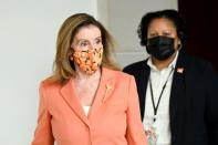 FILE PHOTO: U.S. House Speaker Pelosi departs a news conference on Capitol Hill in Washington