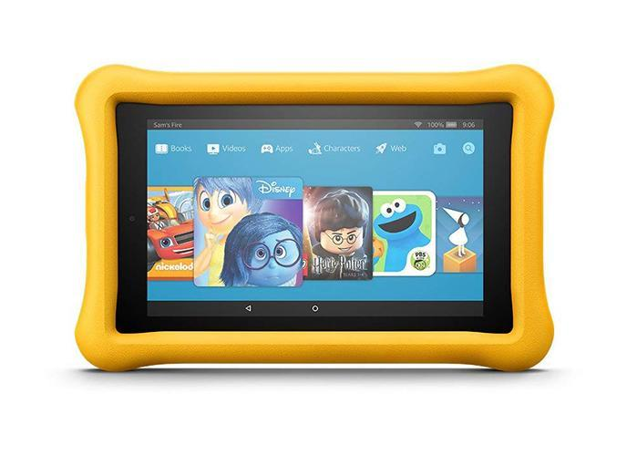 Amazon Fire 7 kids edition tablet in yellow. (Photo: Amazon)