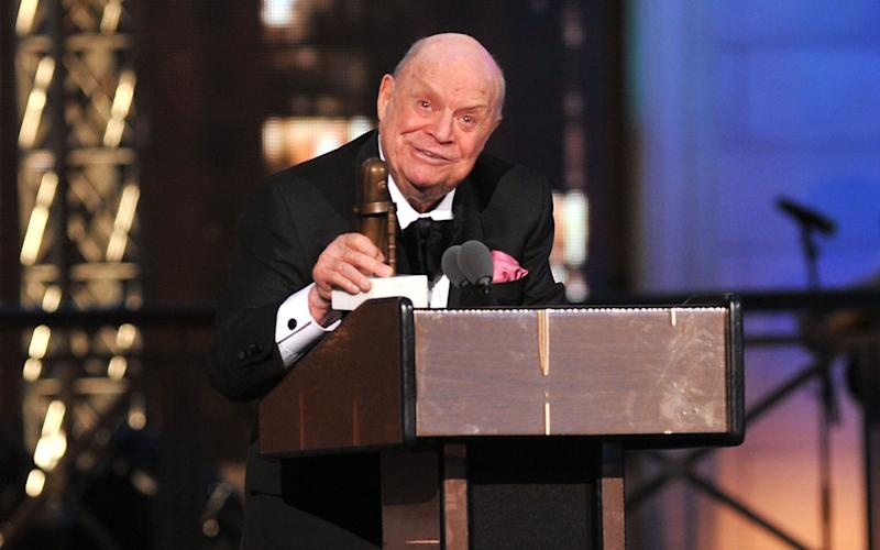 Don Rickles accepting a comedy award in 2012 - Credit: Getty Images