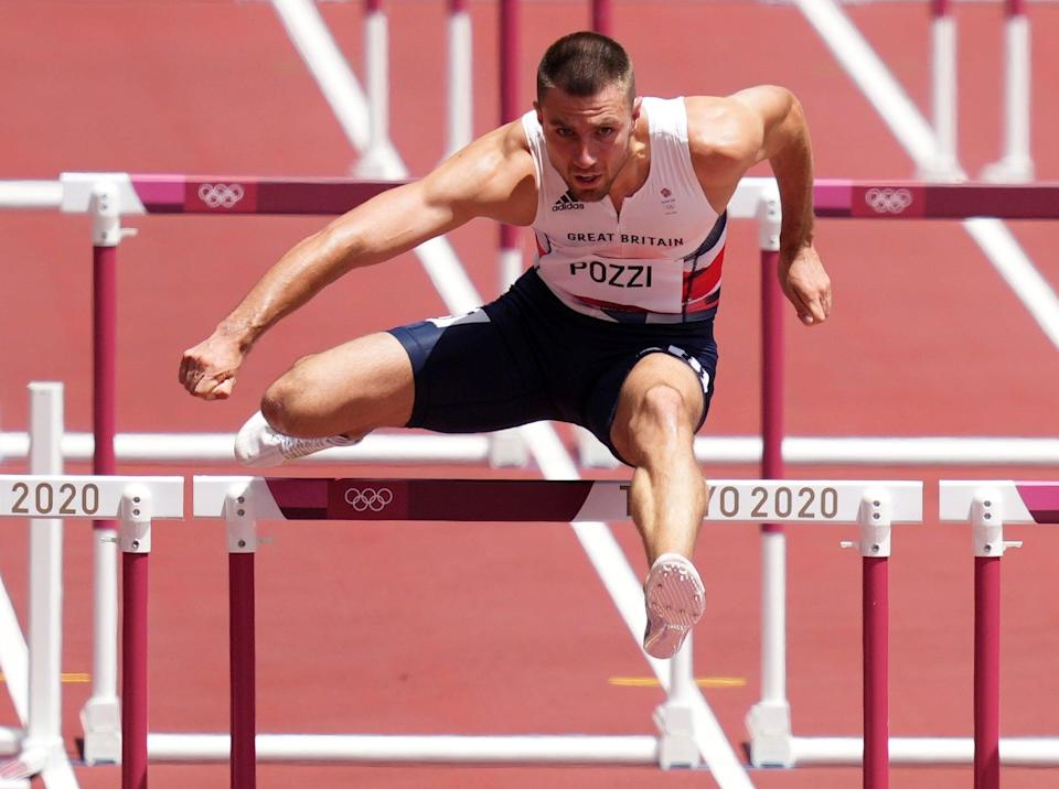 Pozzi reached the 110m hurdles at the Olympics for the first time in his career. (Joe Giddens/PA) (PA Wire)