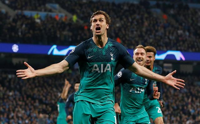 Fernando Llorente's goal sent Spurs through to the Champions League semi-final