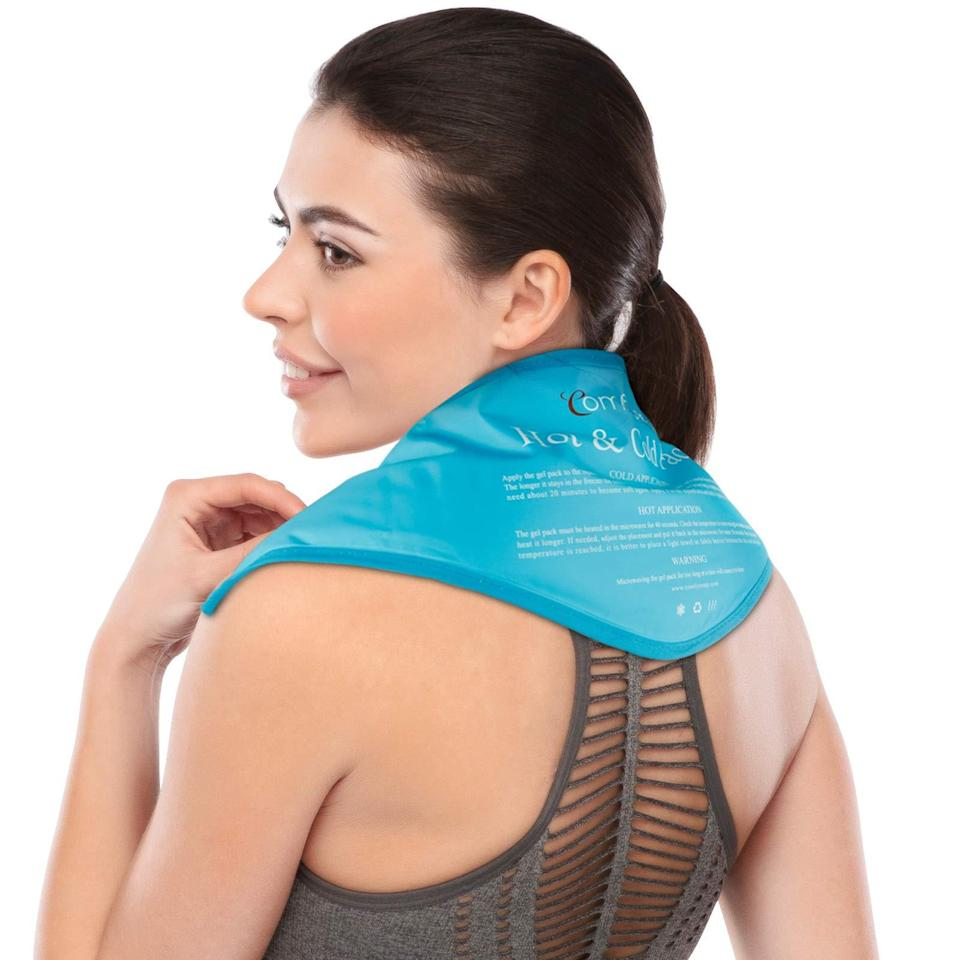 """<h2>15% Off Amazon Gel Neck Ice Pack</h2><br>Shopping team writer Kate Spencer unearthed this Amazon hidden gem that helped soothe the acute <a href=""""https://www.refinery29.com/en-us/best-products-for-shoulder-pain"""" rel=""""nofollow noopener"""" target=""""_blank"""" data-ylk=""""slk:WFH pain in her neck and shoulders"""" class=""""link rapid-noclick-resp"""">WFH pain in her neck and shoulders</a>. """"It's truly revolutionary because sits on my shoulders without needing to be adjusted, stays cold for a long time, and provided some much-needed relief,"""" she shared. <br><br><em>Shop <strong><a href=""""https://amzn.to/3gZ24rm"""" rel=""""nofollow noopener"""" target=""""_blank"""" data-ylk=""""slk:Amazon"""" class=""""link rapid-noclick-resp"""">Amazon</a></strong></em><br><br><strong>AlierGo</strong> Reusable Neck Gel Ice Pack, $, available at <a href=""""https://amzn.to/2R94U23"""" rel=""""nofollow noopener"""" target=""""_blank"""" data-ylk=""""slk:Amazon"""" class=""""link rapid-noclick-resp"""">Amazon</a>"""