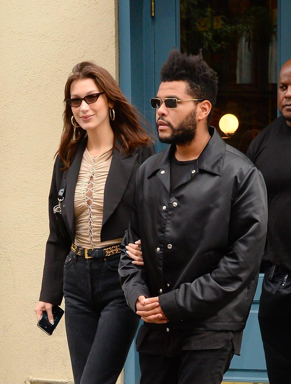 <p>When The Weeknd reunited with ex-girlfriend Bella Hadid, he was photographed rocking a very full beard along with his typical high and tight hairstyle. </p>