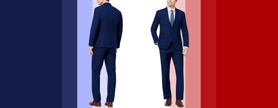 Kenneth Cole Reaction Modern Blue Solid Suit
